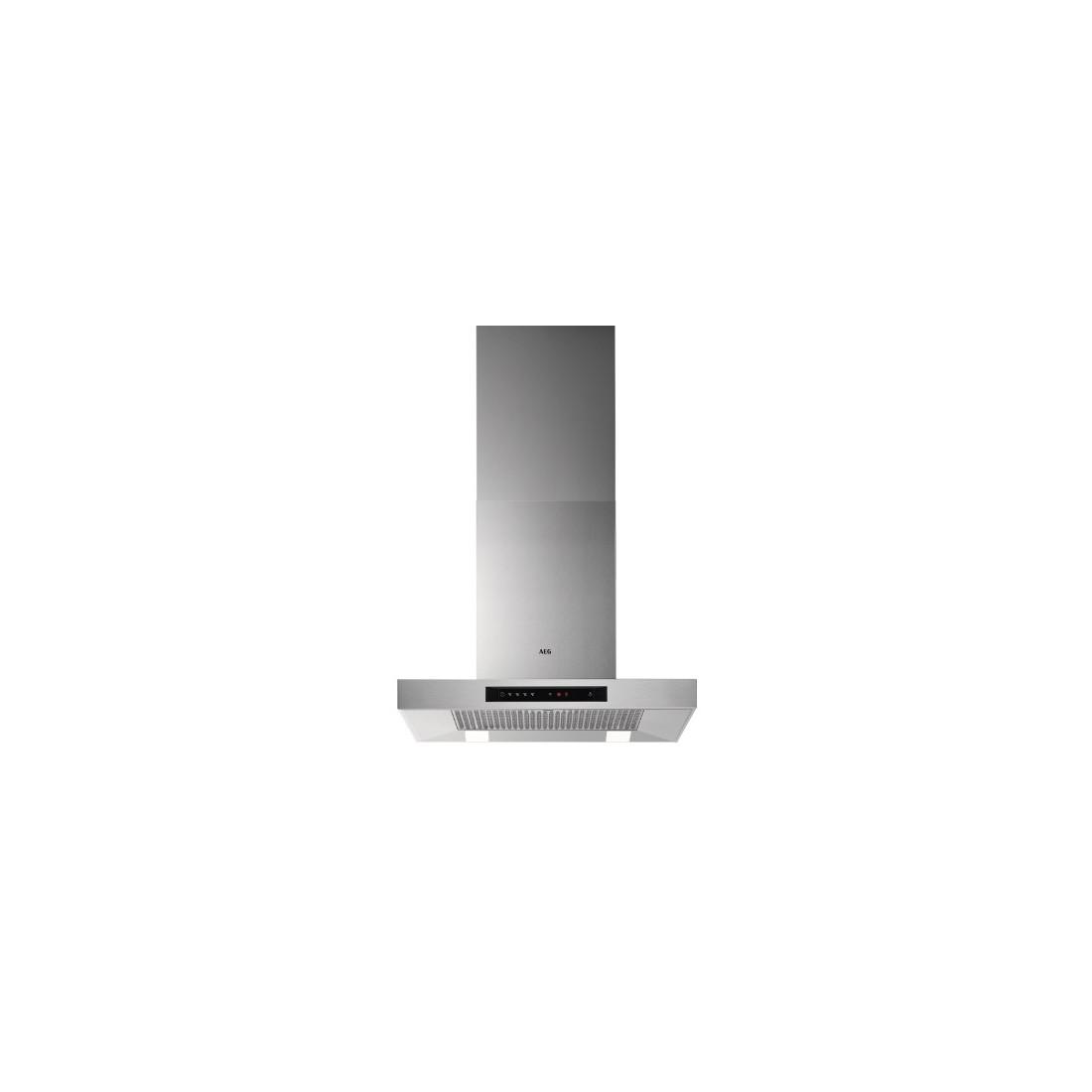 Campana Decorativa - AEG DBB5660HM, Eficiencia A, Acero Inoxidable, T-Invertida, Hob2Hood