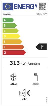 Etiqueta de Eficiencia Energética - WDF0121FF