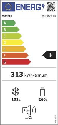 Etiqueta de Eficiencia Energética - WDF0121FFX