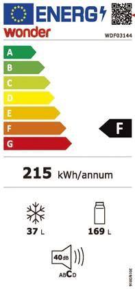 Etiqueta de Eficiencia Energética - WDF03144