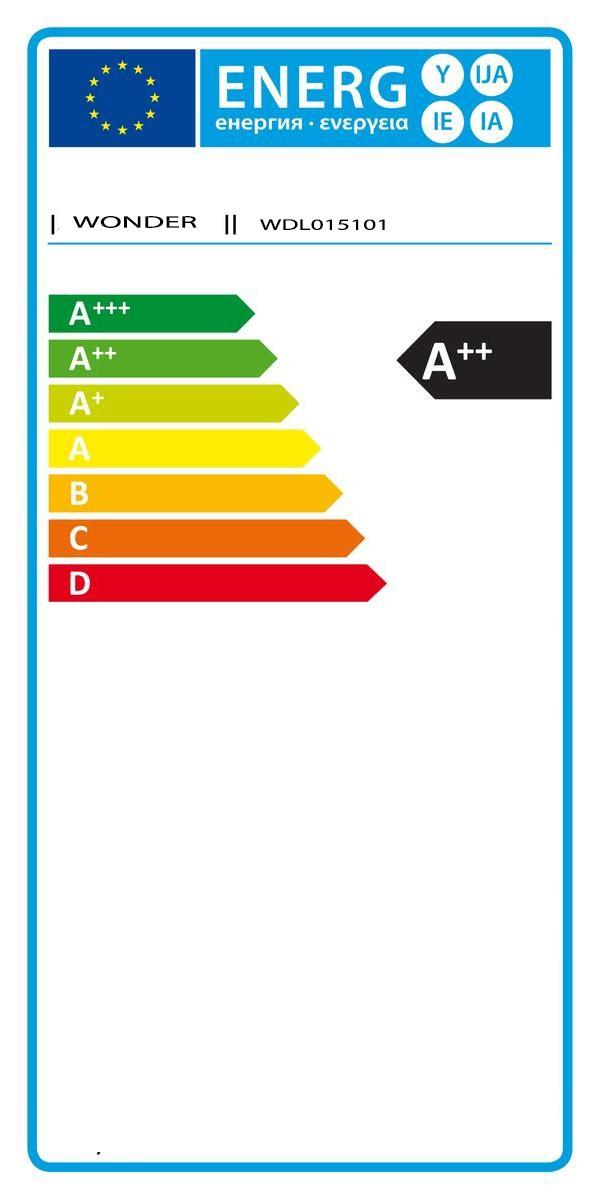 Etiqueta de Eficiencia Energética - WDL015101