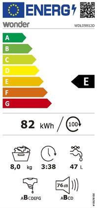 Etiqueta de Eficiencia Energética - WDL09812D