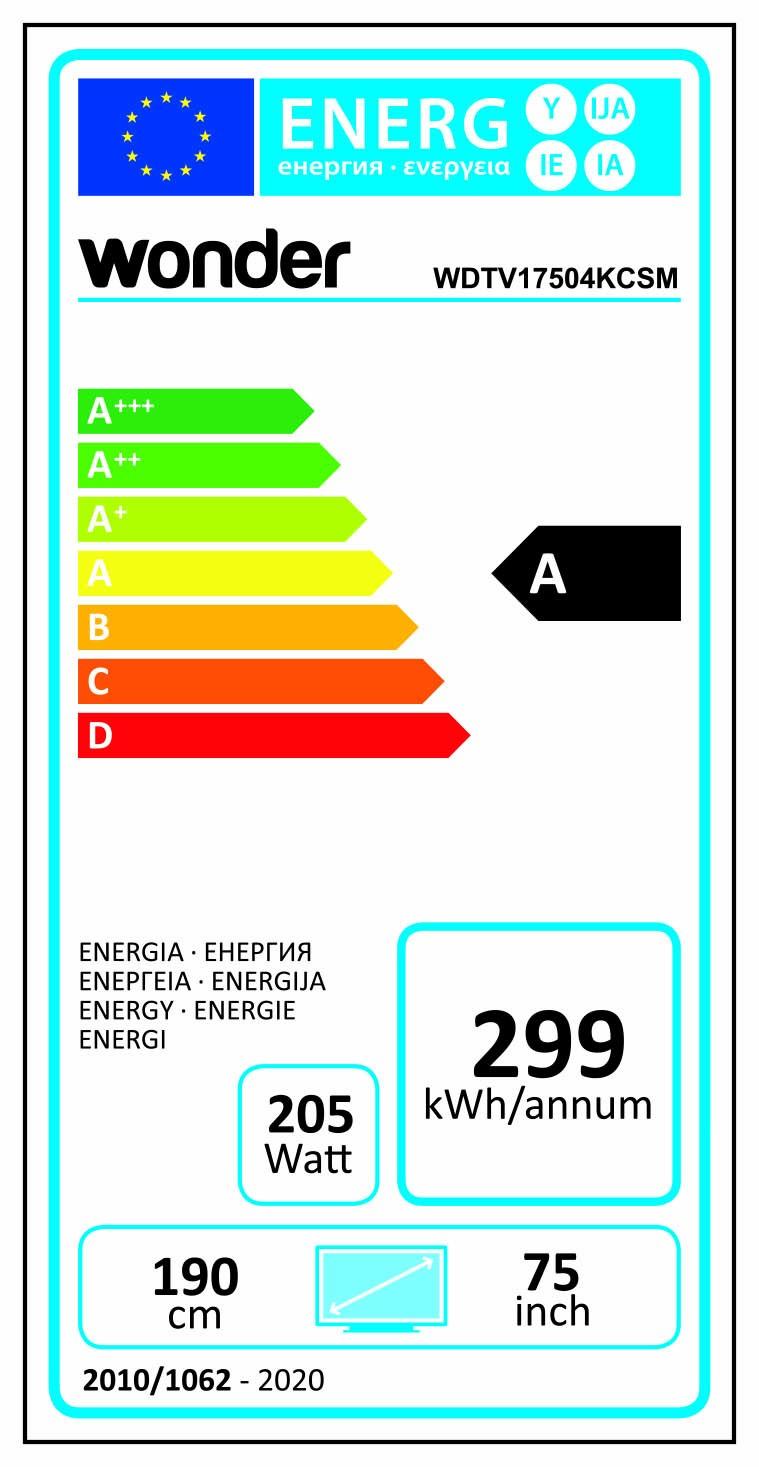 Etiqueta de Eficiencia Energética - WDTV17504KCSM