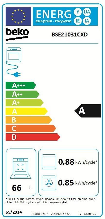 Etiqueta de Eficiencia Energética - BSE21031CXD
