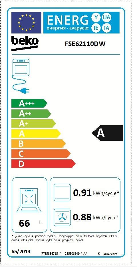 Etiqueta de Eficiencia Energética - FSE62110DW
