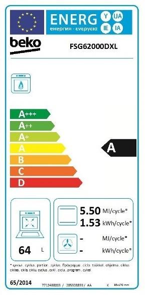 Etiqueta de Eficiencia Energética - FSG62000DXL
