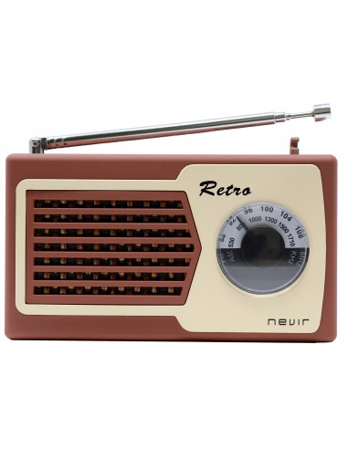 Radio Portátil - Nevir NVR200 Marrón