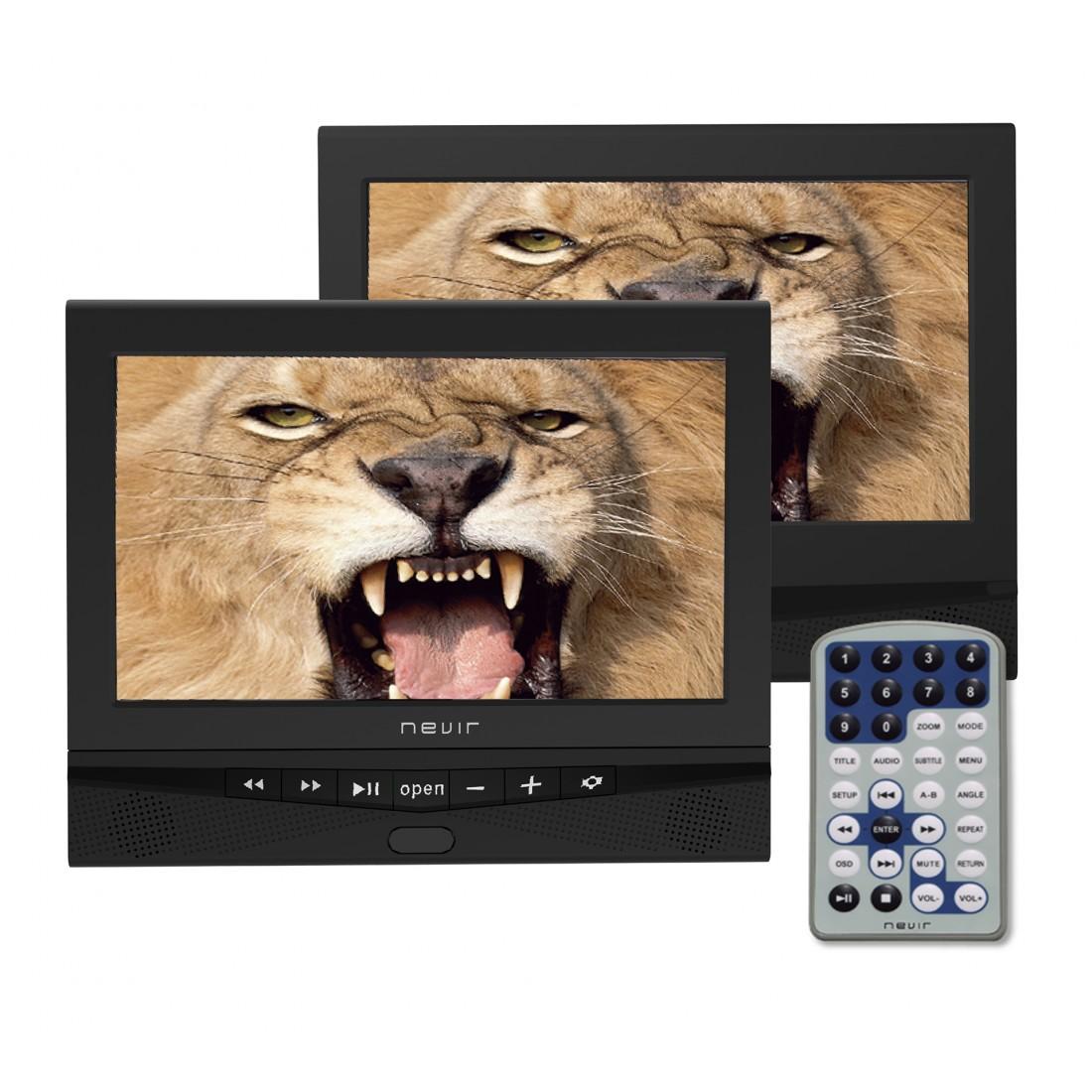"DVD Portátil - Nevir NVR2778DVD 10"" 2 pantallas"
