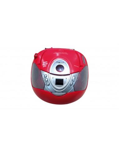 Radio CD - Nevir NVR474U Mp3, USB, Rojo