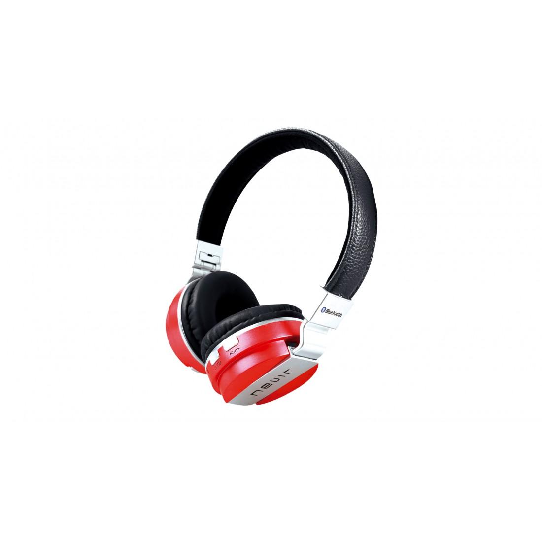 Auricular Diadema - Nevir NVR945BH Rojo, Bluetooth