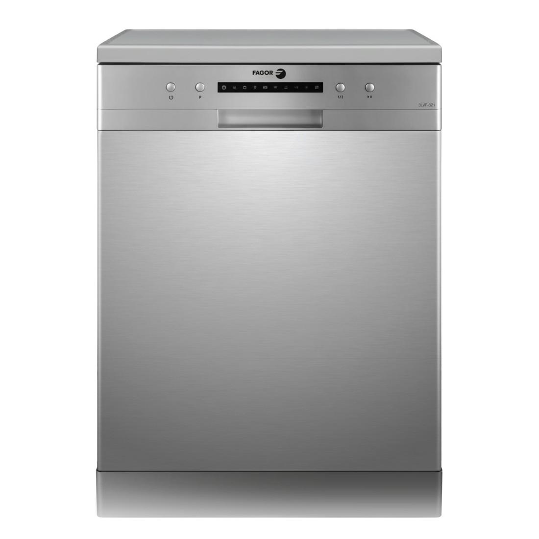 Lavavajillas Libre Instalación - Fagor 3LVF-621X, Eficiencia A++, 12 kg, Acero Inoxidable