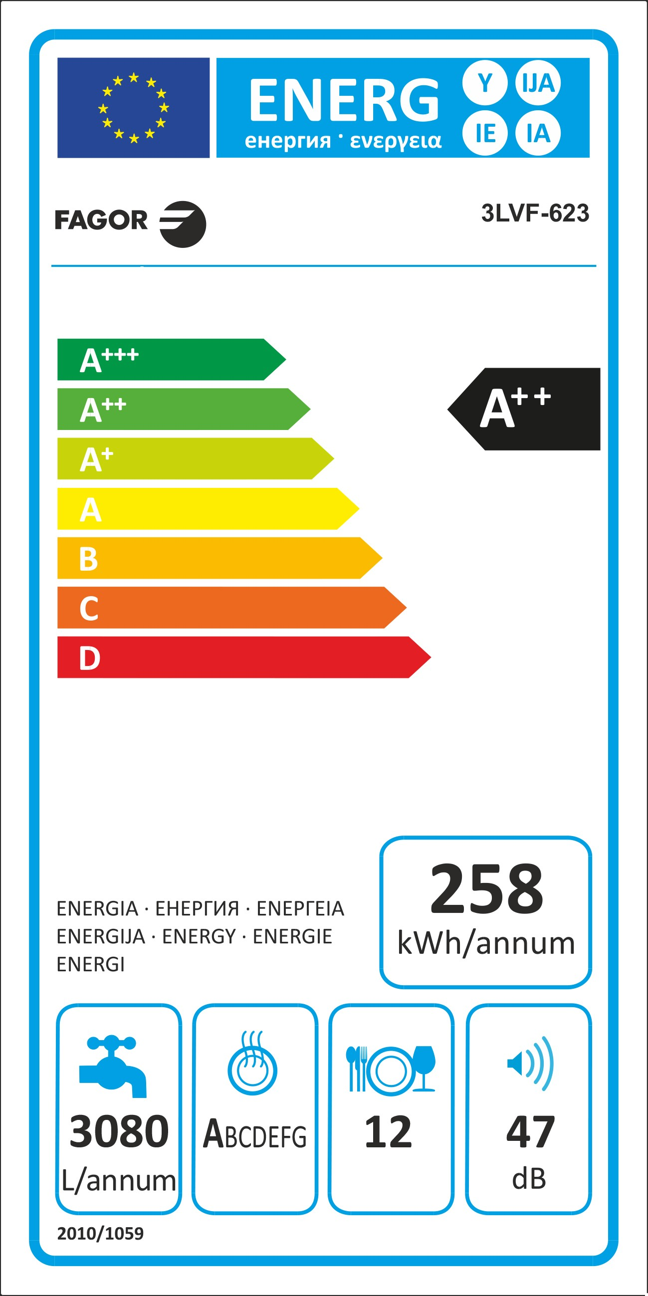Etiqueta de Eficiencia Energética - 3LVF-623.1