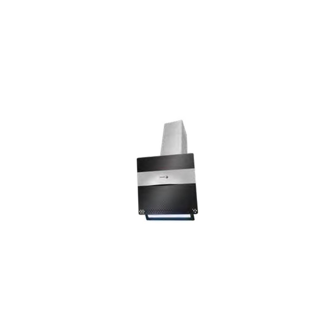 Campana Decorativa - Fagor 3CFT-610N, Eficiencia A, Acero Inoxidable y negro, Inclinada