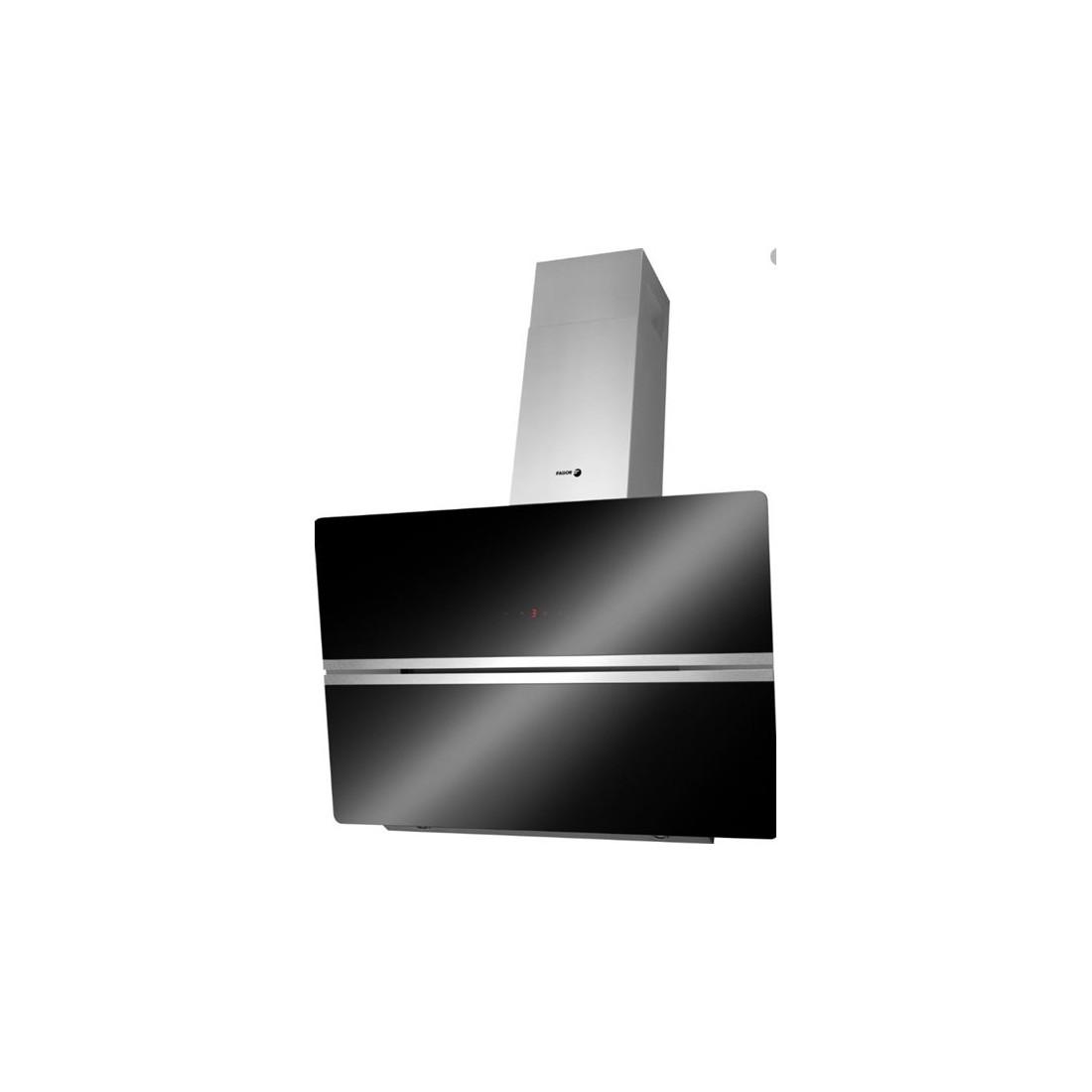 Campana Decorativa - Fagor 3CFT-9007N, Eficiencia B, Acero Inoxidable y negro, Inclinada