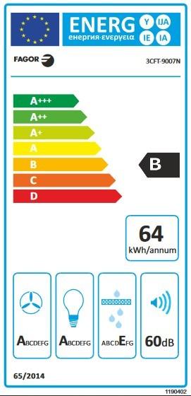 Etiqueta de Eficiencia Energética - 3CFT-9007N