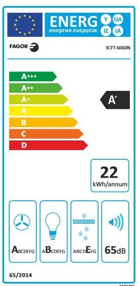 Etiqueta de Eficiencia Energética - 3CFT-6060N