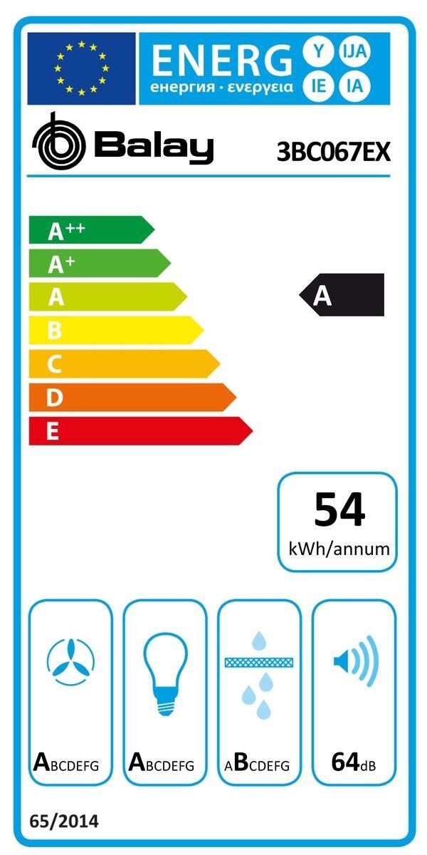 Etiqueta de Eficiencia Energética - 3BC067EX