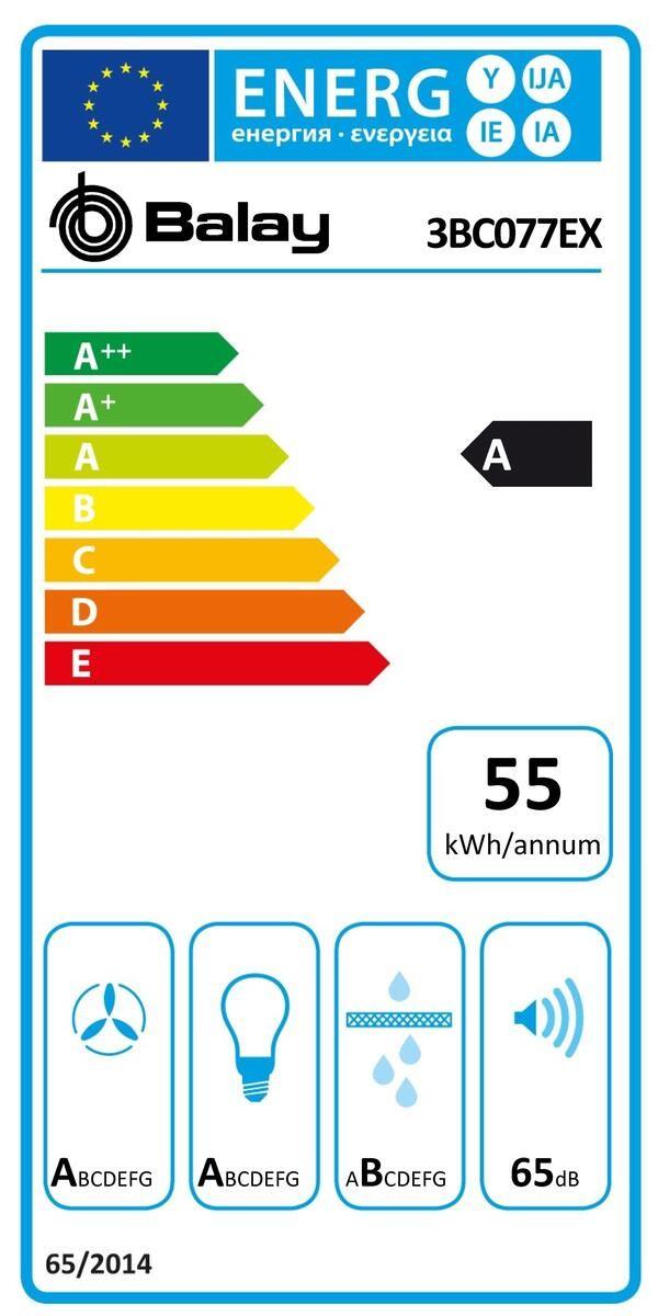 Etiqueta de Eficiencia Energética - 3BC077EX