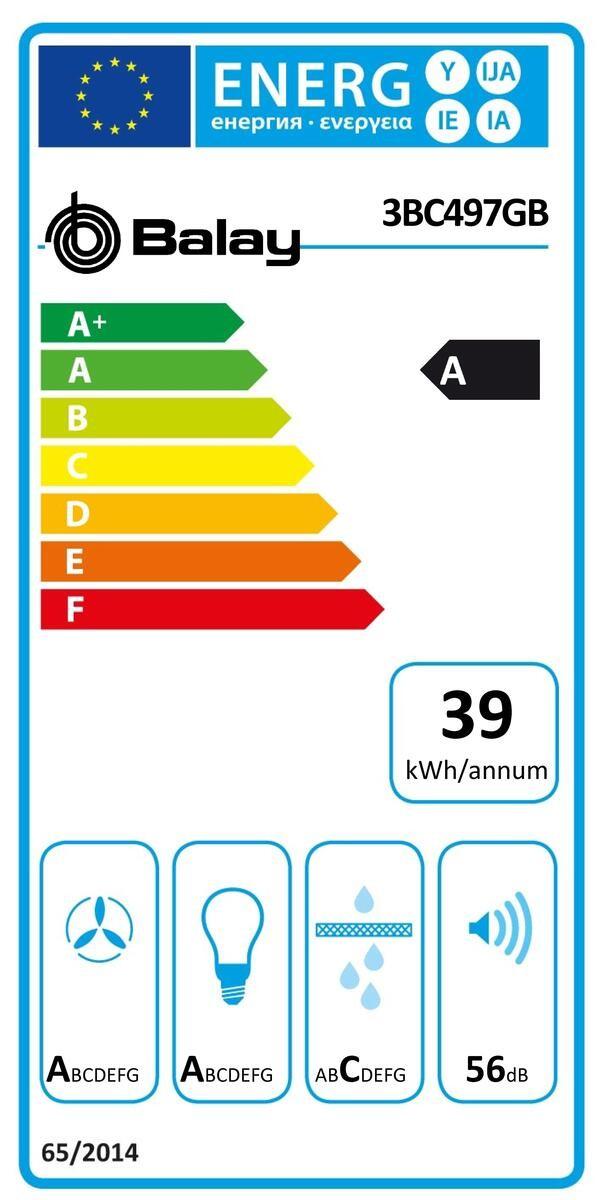 Etiqueta de Eficiencia Energética - 3BC497GB