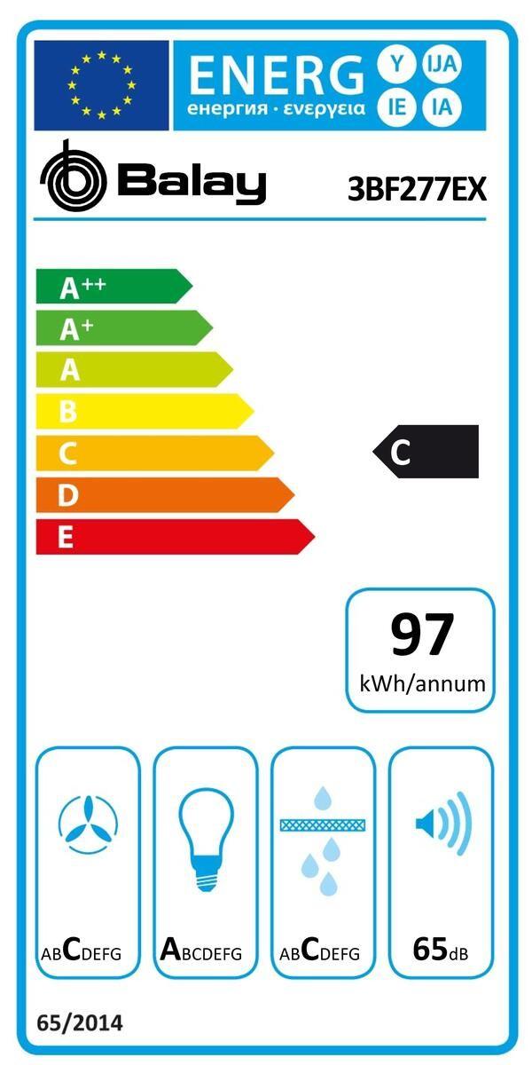 Etiqueta de Eficiencia Energética - 3BF277EX