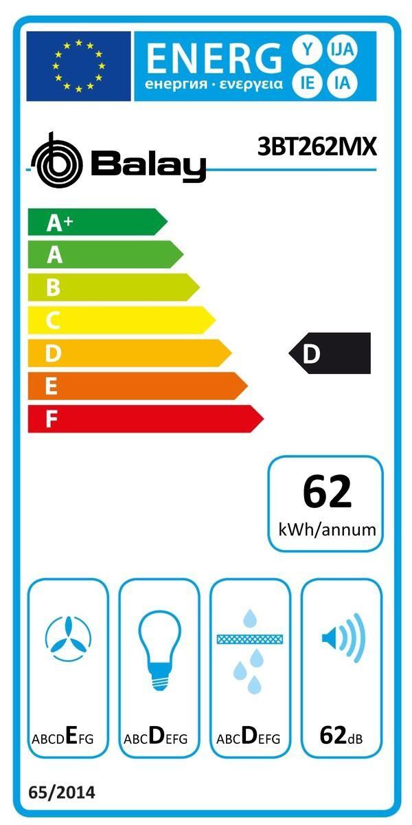 Etiqueta de Eficiencia Energética - 3BT262MX