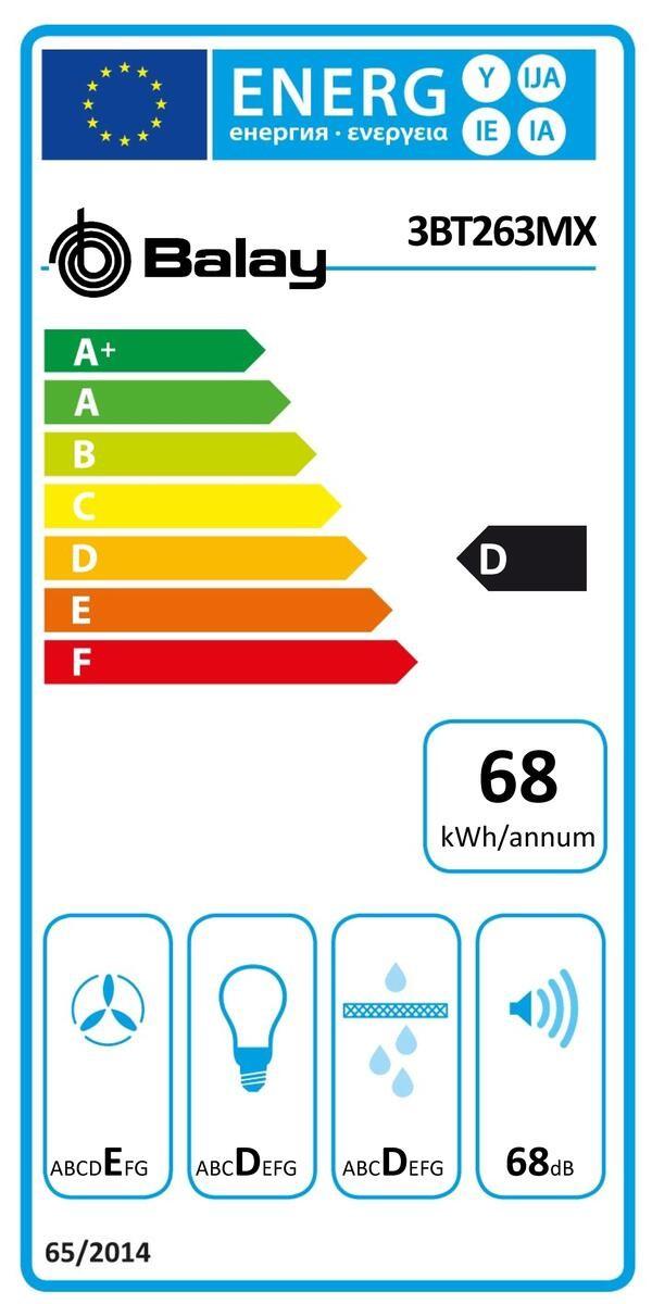 Etiqueta de Eficiencia Energética - 3BT263MX