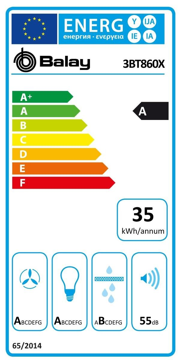 Etiqueta de Eficiencia Energética - 3BT860X