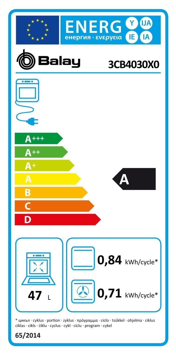 Etiqueta de Eficiencia Energética - 3CB4030X0