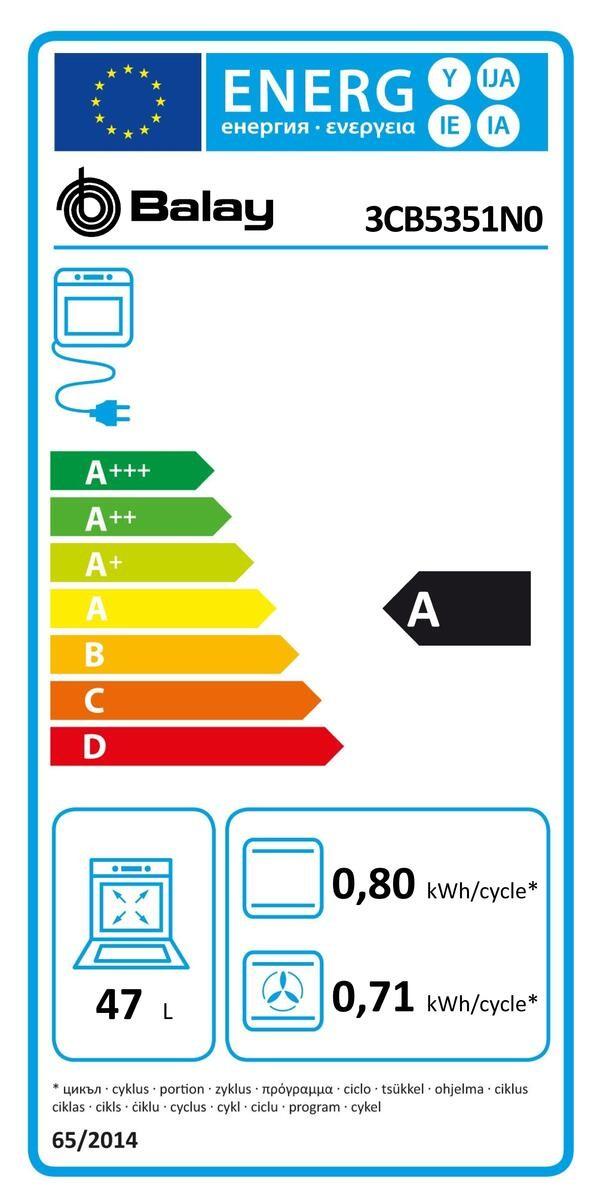 Etiqueta de Eficiencia Energética - 3CB5351N0