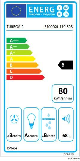 Etiqueta de Eficiencia Energética - ZOE IX/A/90