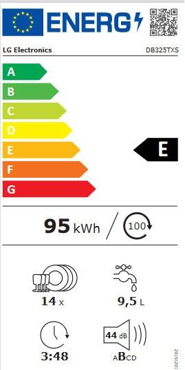 Etiqueta de Eficiencia Energética - DB325TXS