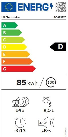 Etiqueta de Eficiencia Energética - DB425TXS