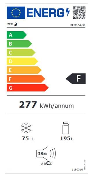 Etiqueta de Eficiencia Energética - 3FIC-5430