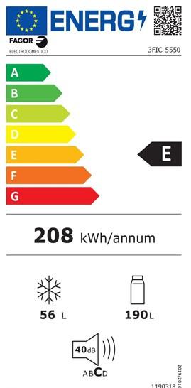 Etiqueta de Eficiencia Energética - 3FIC-5550