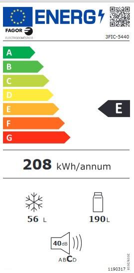Etiqueta de Eficiencia Energética - 3FIC-5440