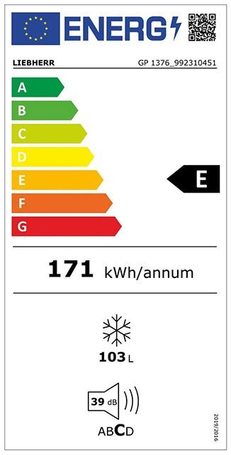 Etiqueta de Eficiencia Energética - GP1376