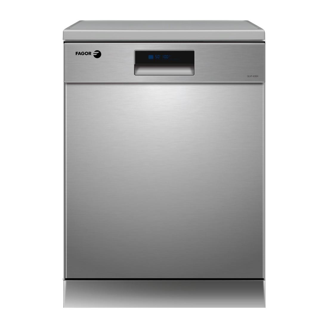 Lavavajillas Libre Instalación - Fagor 3LVF-638X, Eficiencia A+++, 14 kg, Acero Inoxidable