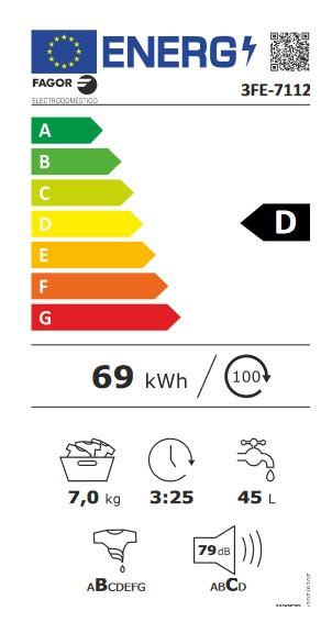 Etiqueta de Eficiencia Energética - 3FE-7112