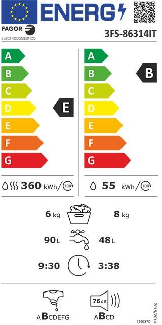 Etiqueta de Eficiencia Energética - 3FS-86314IT