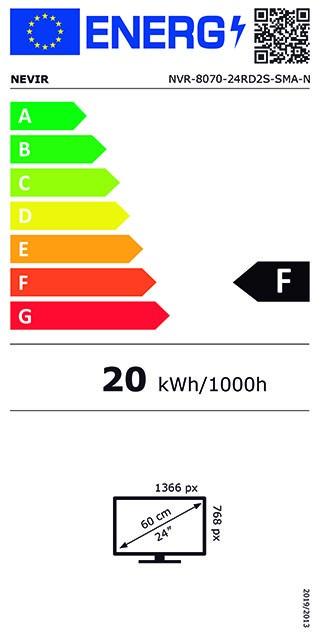 Etiqueta de Eficiencia Energética - NVR-8070-24RD2S-SMAN