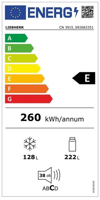 Etiqueta de Eficiencia Energética - CN3915