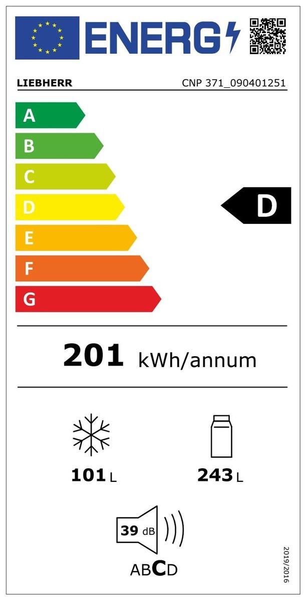 Etiqueta de Eficiencia Energética - CNP371