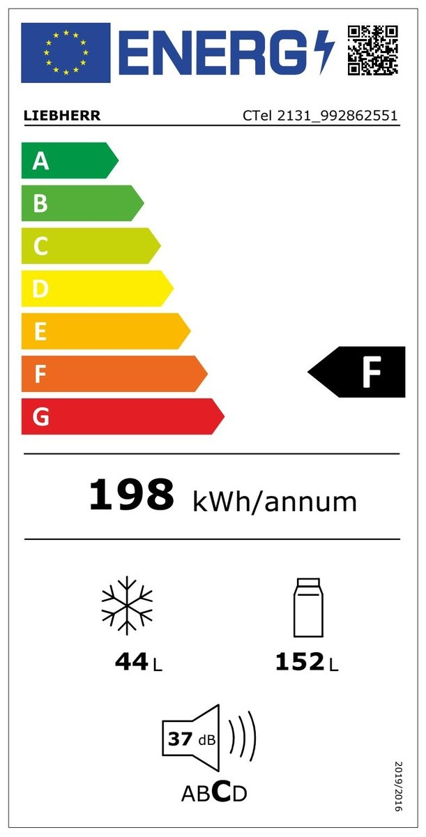 Etiqueta de Eficiencia Energética - CTEL2131