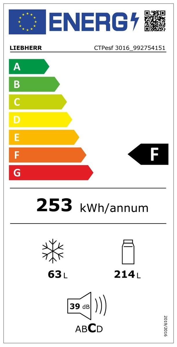 Etiqueta de Eficiencia Energética - CTPESF3016