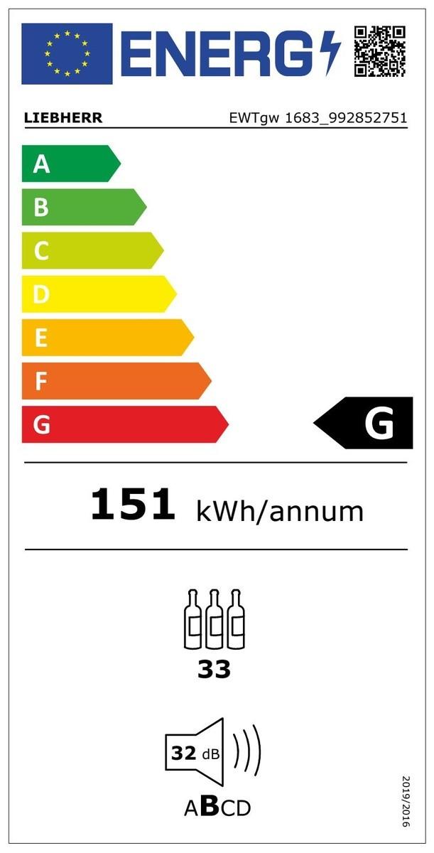 Etiqueta de Eficiencia Energética - EWTGW1683