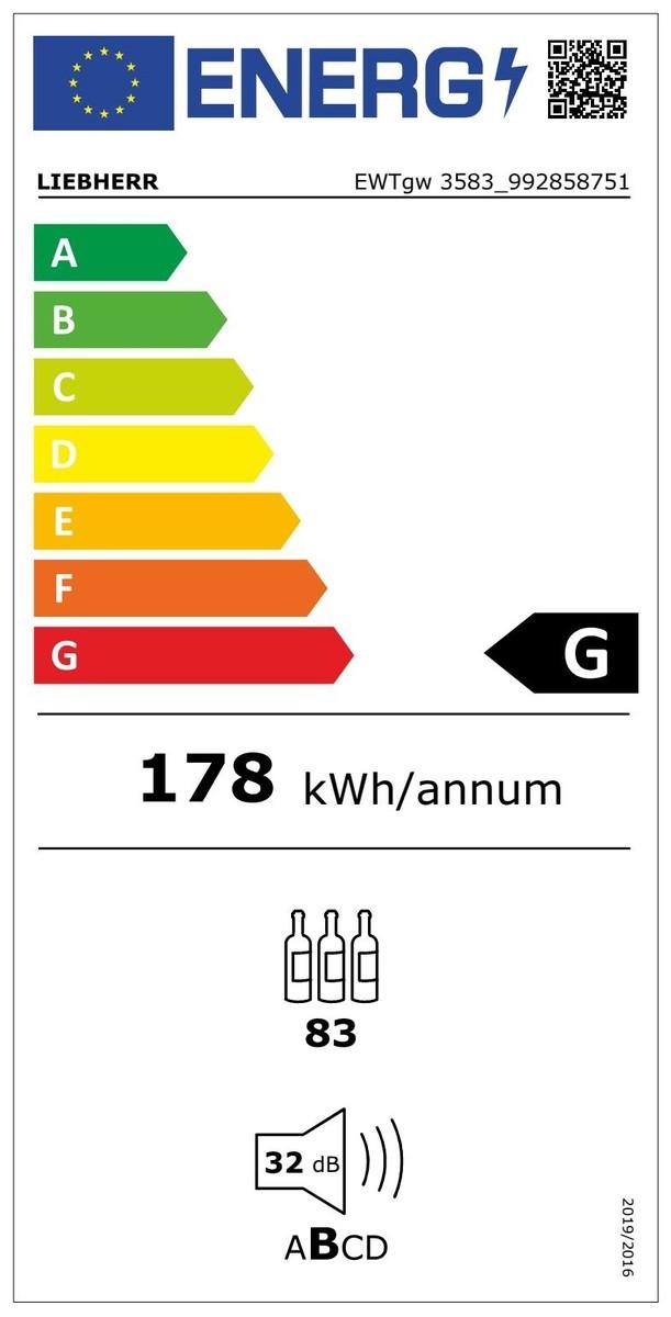 Etiqueta de Eficiencia Energética - EWTGW3583
