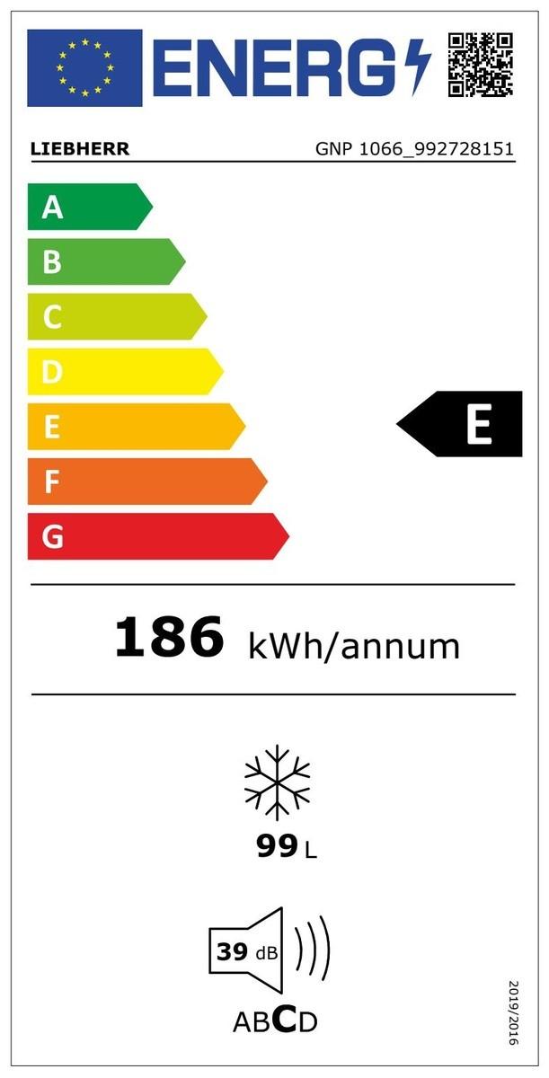 Etiqueta de Eficiencia Energética - GNP1066