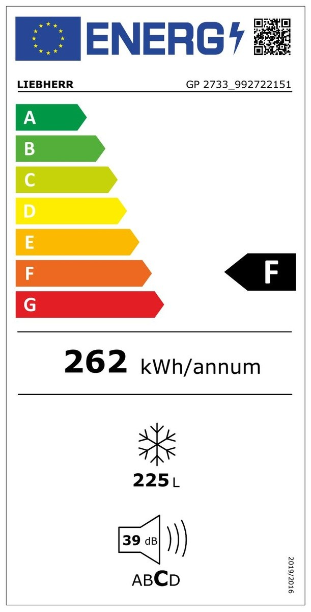 Etiqueta de Eficiencia Energética - GP2733