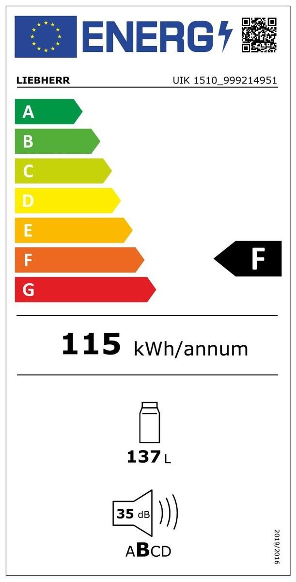 Etiqueta de Eficiencia Energética - UIK1510