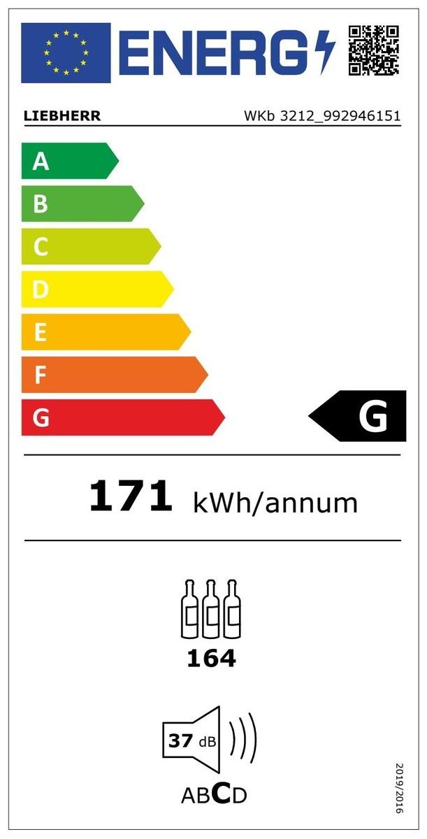 Etiqueta de Eficiencia Energética - WKB3212